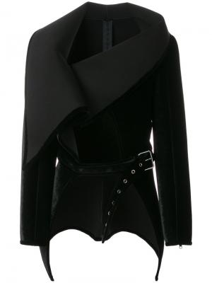 Пиджак с большим воротником и пряжкой Gareth Pugh. Цвет: черный