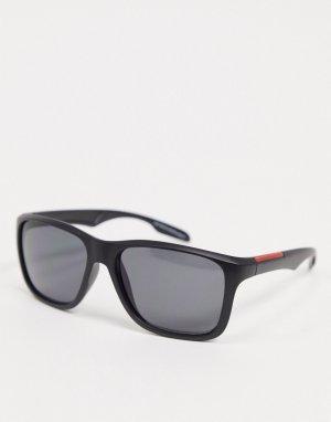 Черные квадратные солнцезащитные очки -Черный цвет SVNX