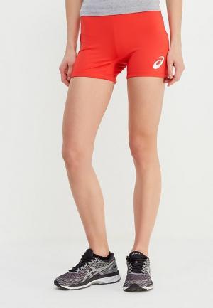 Шорты спортивные ASICS WOMAN RUSSIA SHORT. Цвет: красный