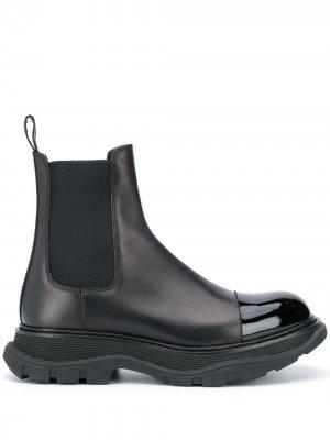 Массивные ботинки челси Alexander McQueen. Цвет: черный