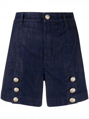 Джинсовые шорты с завышенной талией Jacob Cohen. Цвет: синий