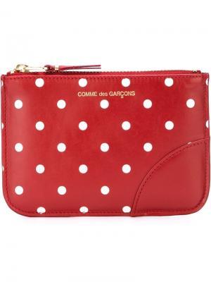 Кошелек Polka Dots Printed Comme Des Garçons Wallet. Цвет: красный
