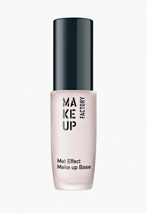 Праймер для лица Make Up Factory Mat Effect Base т.01 полупрозрачный розовый, 15 мл. Цвет: розовый