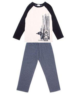 Пижама хлопковая с принтом LA PERLA