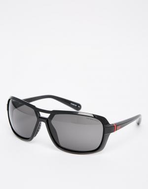 Солнцезащитные очки Racer Nike. Цвет: черный