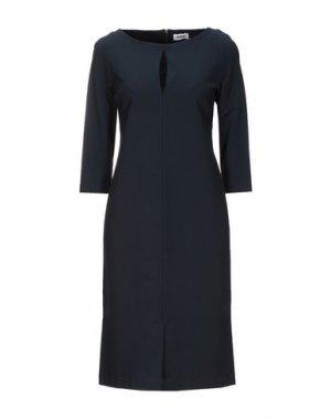 Платье до колена KATE. Цвет: темно-синий