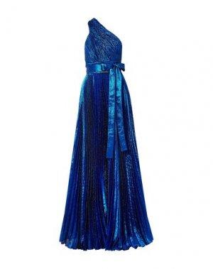 Длинное платье ELIE SAAB. Цвет: синий