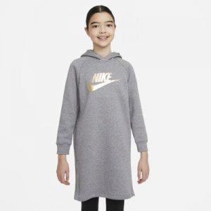 Платье-худи для девочек школьного возраста Sportswear - Серый Nike