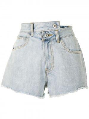 Джинсовые шорты с эффектом потертости Ground Zero. Цвет: синий