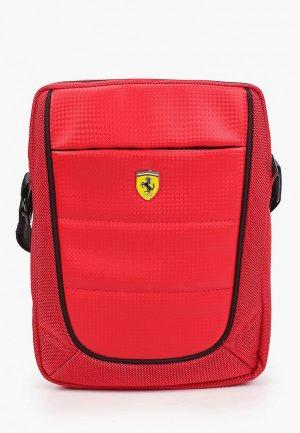 Сумка Ferrari Scuderia Bag Nylon/PU Red. Цвет: красный