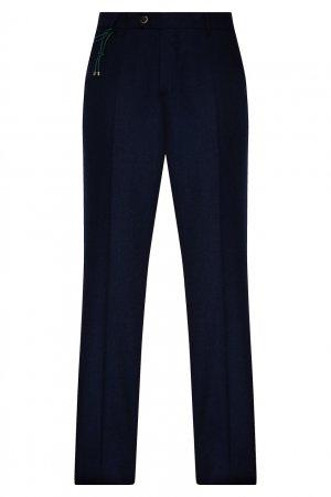 Классические брюки синего цвета Berwich. Цвет: синий