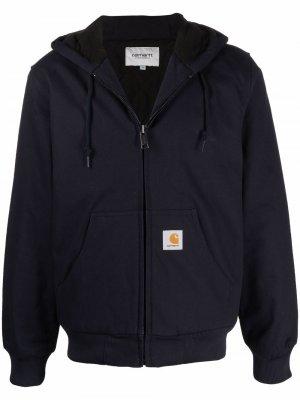Куртка с капюшоном и нашивкой-логотипом Carhartt WIP. Цвет: синий