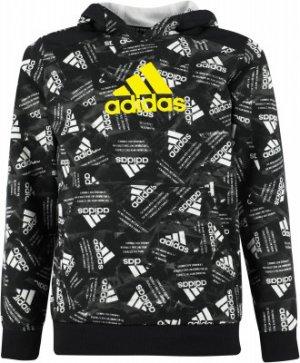 Худи для мальчиков adidas Badge Of Sport, размер 128. Цвет: черный
