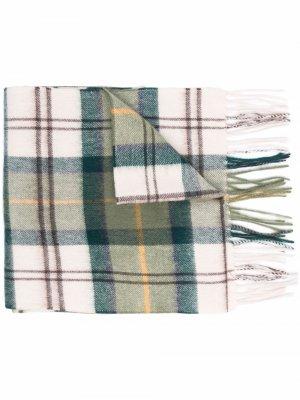 Клетчатый шарф с кисточками Barbour. Цвет: нейтральные цвета