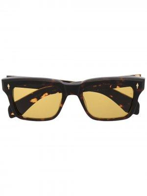 Солнцезащитные очки Torino Jacques Marie Mage. Цвет: коричневый