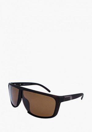 Очки солнцезащитные Greywolf. Цвет: коричневый