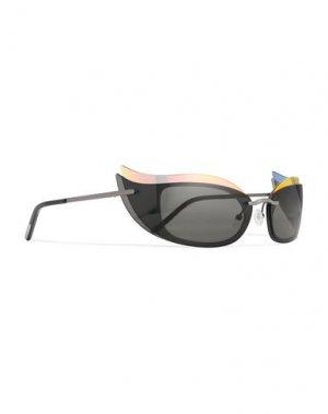 Солнечные очки COURREGES. Цвет: черный