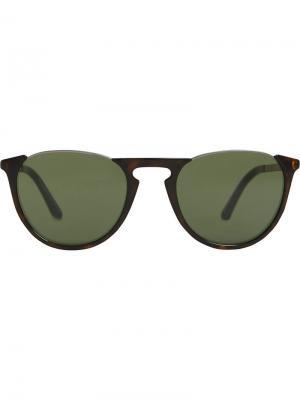 Солнцезащитные очки в круглой оправе с затемненными линзами Burberry Eyewear. Цвет: коричневый