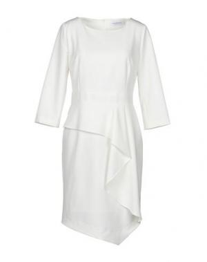 Платье до колена ANNA RACHELE. Цвет: белый