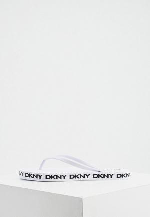 Сланцы DKNY. Цвет: белый
