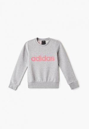 Свитшот adidas YG E Lin Sweat. Цвет: серый