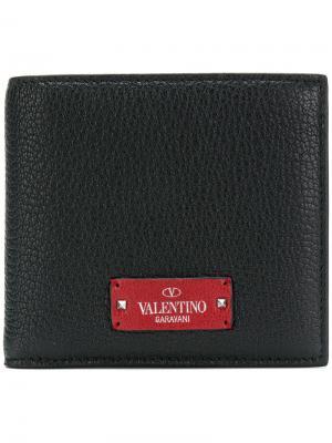 Garavani fold out wallet Valentino. Цвет: чёрный
