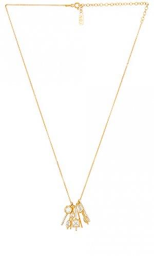 Кулон celine Natalie B Jewelry. Цвет: металлический золотой