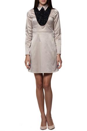 Платье JOELLE YOUNG JO'ELLE. Цвет: beige and black