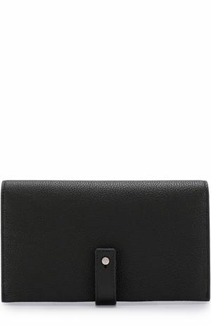 Кожаное портмоне с футляром для кредитных карт Saint Laurent. Цвет: черный
