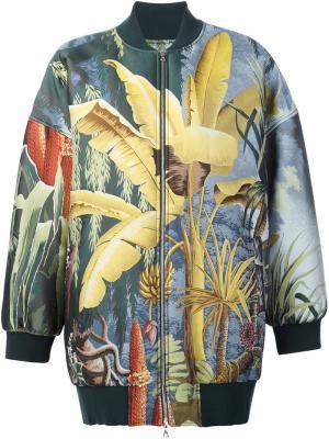 Куртка-бомбер свободного кроя Adam Lippes. Цвет: многоцветный