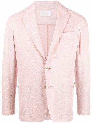 Однобортный пиджак с заостренными лацканами Altea. Цвет: розовый