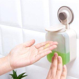 1шт Настенный дозатор для жидкого мыла SHEIN. Цвет: прозрачный