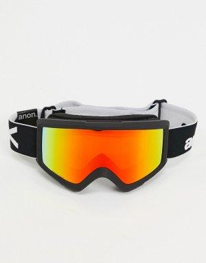Черные горнолыжные очки с запасным стеклом Helix 2 Sonar-Черный Anon