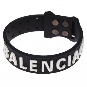 Черный силиконовый браслет с логотипом Balenciaga