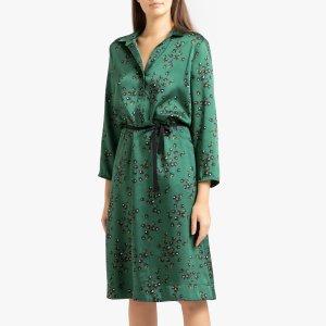 Платье LaRedoute. Цвет: зеленый