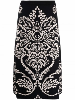 S Max Mara юбка вязки интарсия 'S. Цвет: черный
