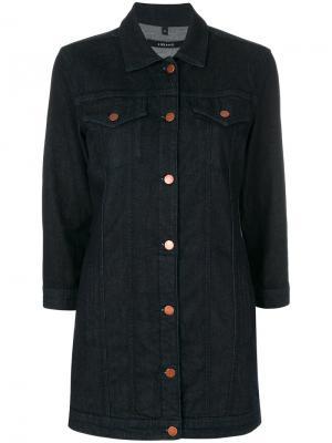Длинная джинсовая куртка J Brand. Цвет: синий