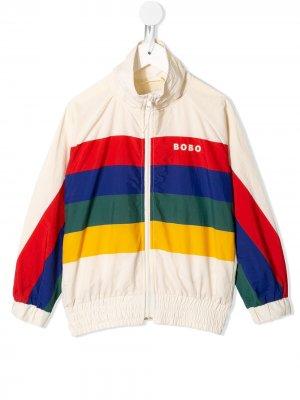 Спортивная куртка со вставками и логотипом Bobo Choses. Цвет: белый