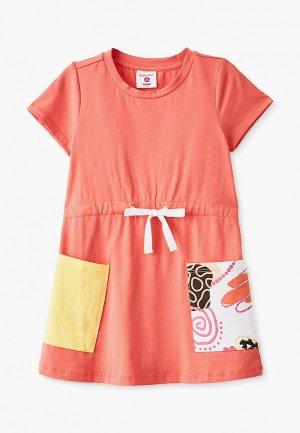 Платье Button Blue. Цвет: оранжевый