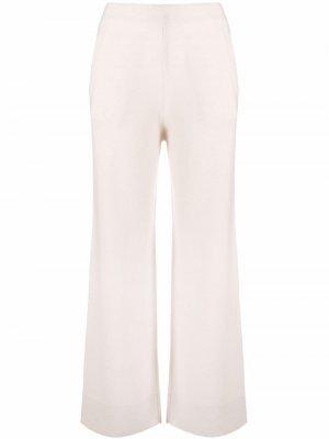 Широкие брюки тонкой вязки Allude. Цвет: нейтральные цвета
