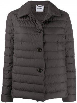 Куртка-пуховик Aspesi. Цвет: коричневый