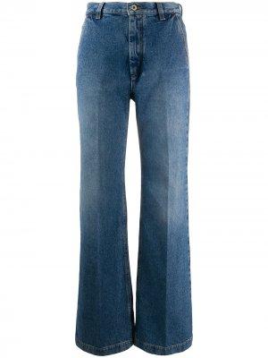 Расклешенные джинсы с завышенной талией Loewe. Цвет: синий