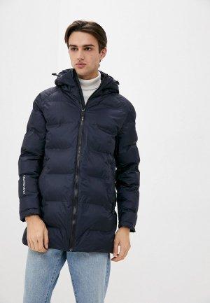 Куртка утепленная Indicode Jeans Igor. Цвет: синий