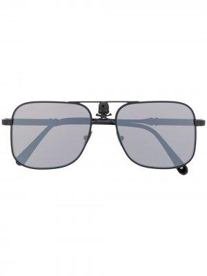 Солнцезащитные очки Skull в квадратной оправе Philipp Plein. Цвет: черный