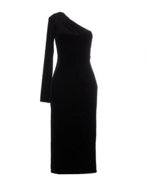 Платье длиной 3/4 JASMINE DI MILO. Цвет: черный