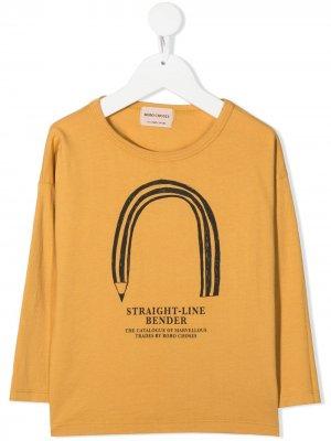 Топ Straight Line Bender с длинными рукавами Bobo Choses. Цвет: желтый