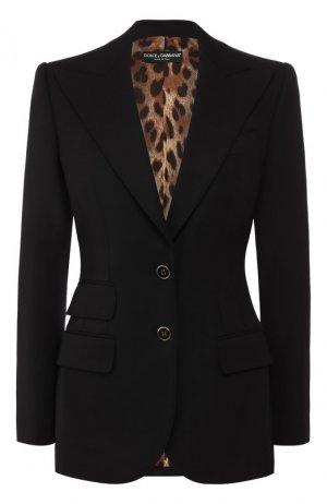 Шерстяной жакет Dolce & Gabbana. Цвет: черный