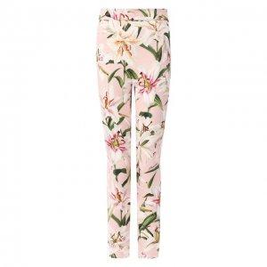 Леггинсы с принтом Dolce & Gabbana. Цвет: розовый