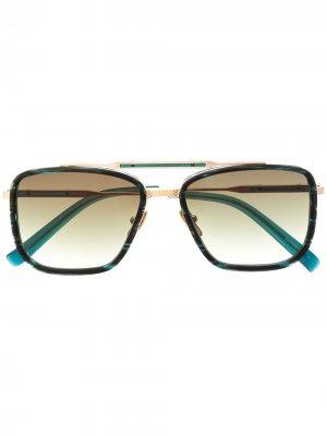 Солнцезащитные очки Vantage в квадратной оправе EQUE.M. Цвет: зеленый