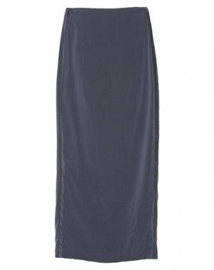 Длинная юбка BRUNELLO CUCINELLI. Цвет: темно-синий